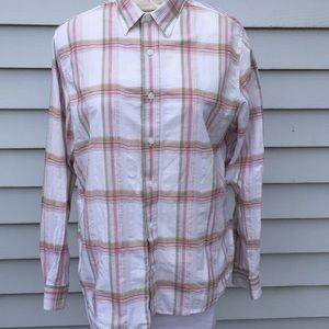 Timberland spring plaid button down.